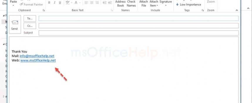 การใส่ลายเซ็น (signature) Outlook 2013